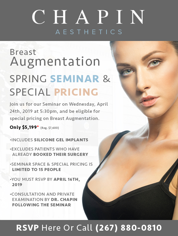 Special Pricing on Breast Augmentation in Philadelphia